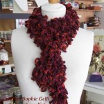 photo tricot modele tricot echarpe spirale 16