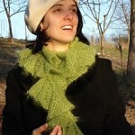 photo tricot modele tricot echarpe spirale 8