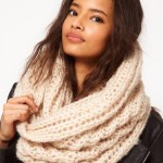 photo tricot modele tricot echarpe tube 17