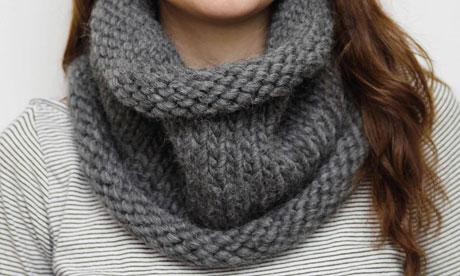 photo tricot modele tricot echarpe tube gratuit 4