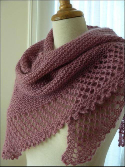 tricoter un chale facile