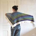 photo tricot modele tricot facile chale 14