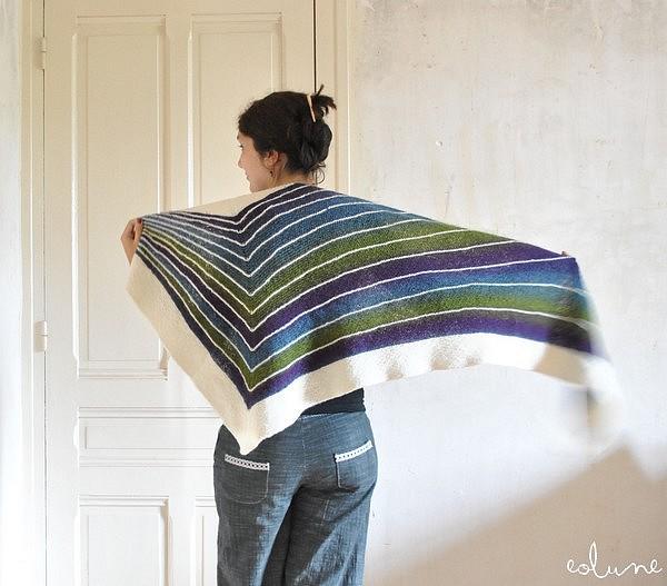 modèle tricot chale facile