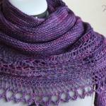 photo tricot modele tricot facile chale