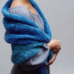 photo tricot modele tricot facile chale 16