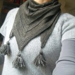 photo tricot modele tricot facile chale 5