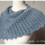 photo tricot modele tricot facile chale 9