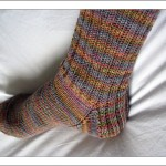 photo tricot modele tricot facile chaussette 15