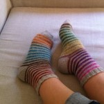 photo tricot modele tricot facile chaussette 16