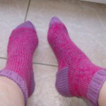photo tricot modele tricot facile chaussette 8