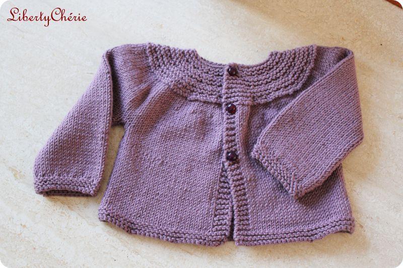 modèle tricot gilet bébé 18 mois