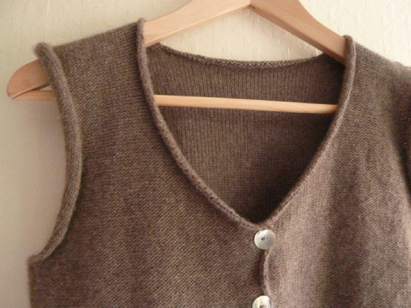 modele tricot gilet sans manche femme