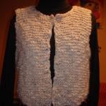 photo tricot modele tricot gilet femme sans manches