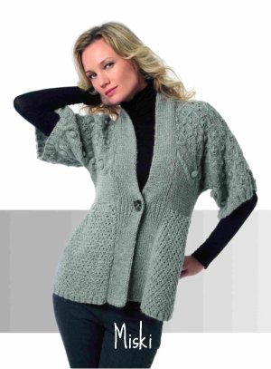 photo tricot modele tricot gilet fille 3