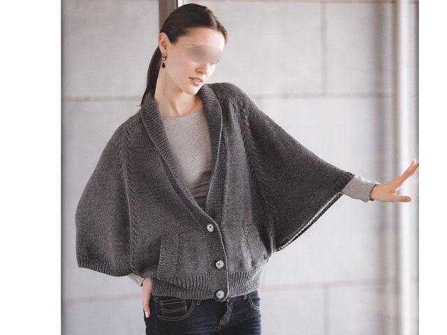 photo tricot modele tricot gilet fille 8