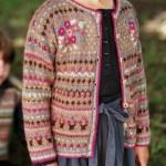 photo tricot modele tricot gilet jacquard 10
