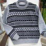 photo tricot modele tricot gilet jacquard 13