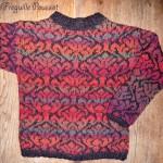 photo tricot modele tricot gilet jacquard 15