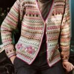 photo tricot modele tricot gilet jacquard