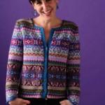 photo tricot modele tricot gilet jacquard 3