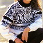 photo tricot modele tricot gilet jacquard 4