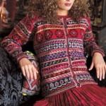 photo tricot modele tricot gilet jacquard 7