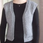 photo tricot modele tricot gilet sans manche 8