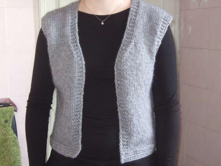 gilet sans manche femme a tricoter