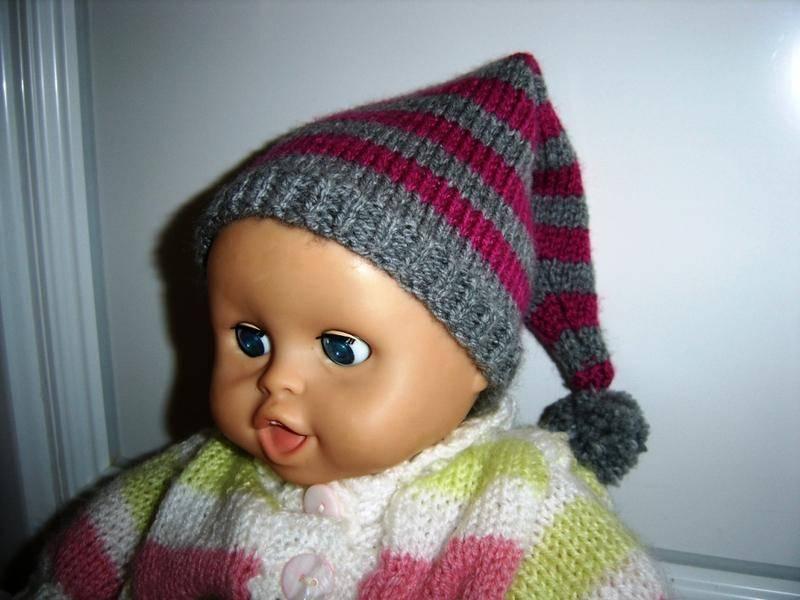 modele tricot bonnet lutin bebe