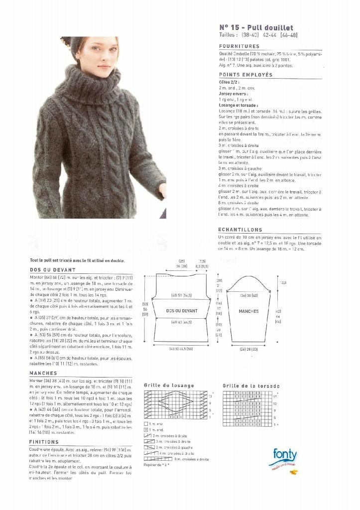 photo tricot modele tricot gratuit femme pull 10