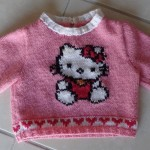 photo tricot modele tricot hello kitty pull 11
