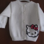 photo tricot modele tricot hello kitty pull 12