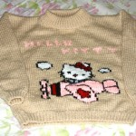photo tricot modele tricot hello kitty pull 13