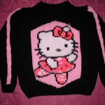 photo tricot modele tricot hello kitty pull