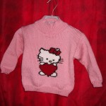 photo tricot modele tricot hello kitty pull 17