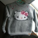 photo tricot modele tricot hello kitty pull 3