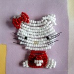 photo tricot modele tricot hello kitty rocaille 2