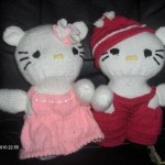 photo tricot modele tricot hello kitty rocaille 4