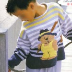 photo tricot modele tricot jacquard bebe 16