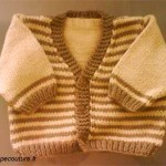 photo tricot modele tricot jersey bebe 4