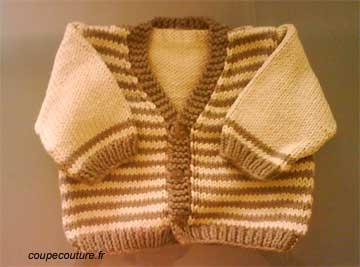 photo tricot modele tricot jersey bebe 4