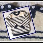 photo tricot modele tricot mariniere bebe 16