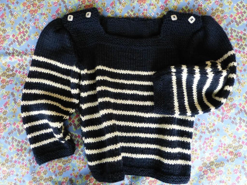 modèle tricot mariniere bébé