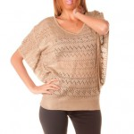 photo tricot modele tricot pull col v femme 15