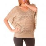 photo tricot modele tricot pull col v femme 15