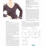 photo tricot modele tricot pull col v femme