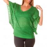photo tricot modele tricot pull col v femme 16