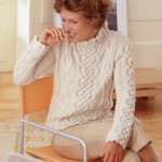 photo tricot modele tricot pull col v femme 17