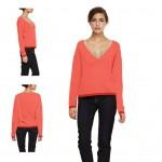 photo tricot modele tricot pull col v femme 18