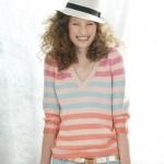 photo tricot modele tricot pull col v femme 2